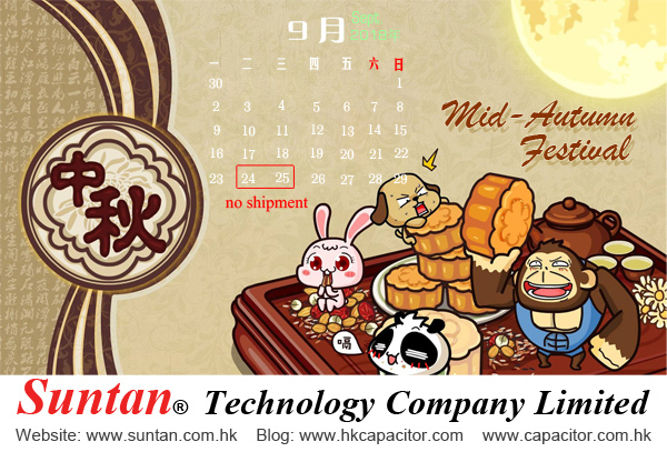 Suntan offer all kinds of capacitors