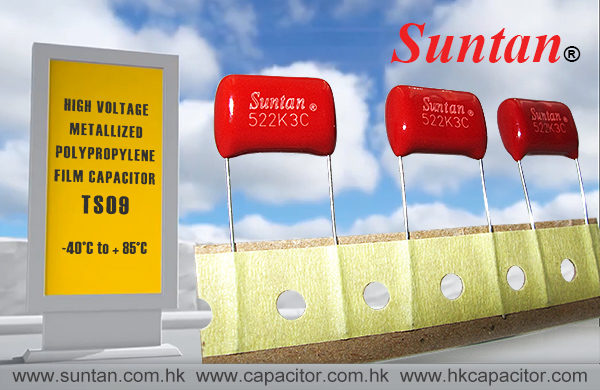 Suntan High Voltage Metallized Polypropylene Film Capacitor TS09 Series