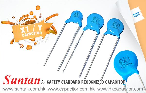 Suntan Safety Ceramic Capacitor TS22–X1/Y