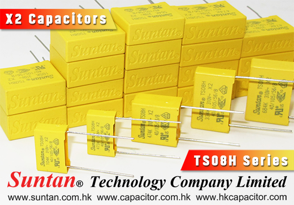 Suntan TS08H Series - Best Choice for X2 Capacitors