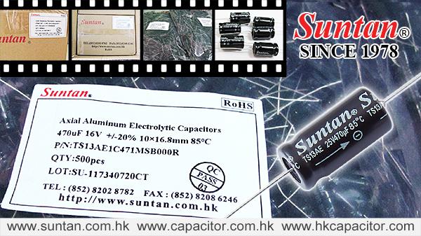 Suntan's Axial Aluminum Electrolytic Capacitor – TS13AE