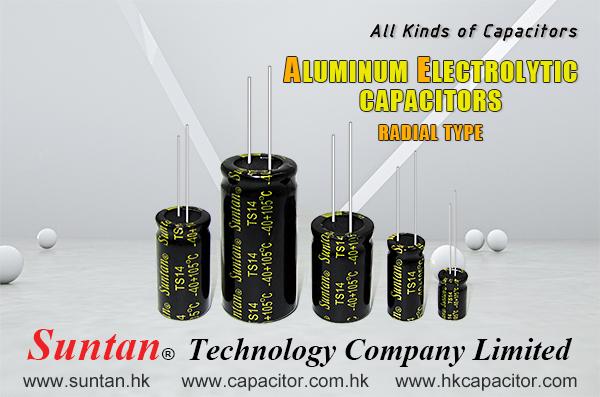 Suntan Aluminum Electrolytic Capacitors- Radial type