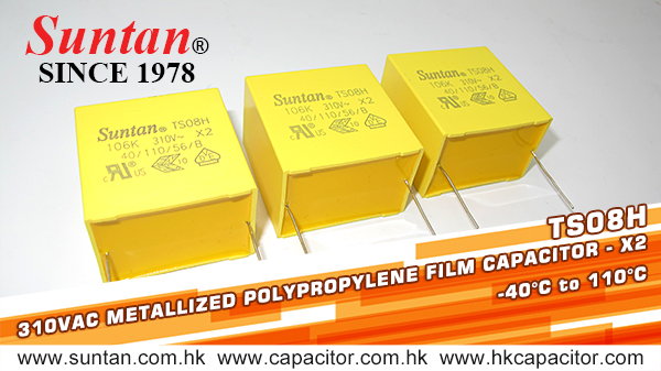 Suntan-Su-Metallized-Polypropylene-Film-Capacitors-X2-TS08H-110C