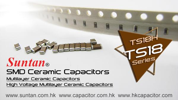 Suntan SMD Ceramic Capacitors TS18 & TS18H Series