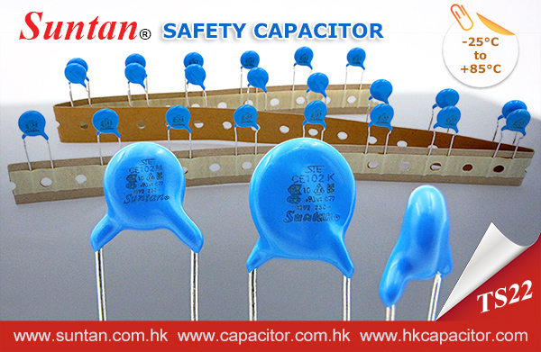 Suntan Safety Capacitor – TS22 -class Y-safety capacitors