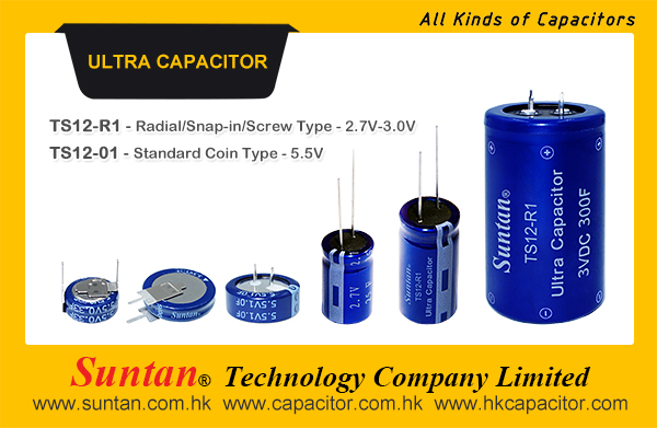 Suntan New Type Ultra Capacitor- Coin, Snap-in, Radial, Screw, Button Type