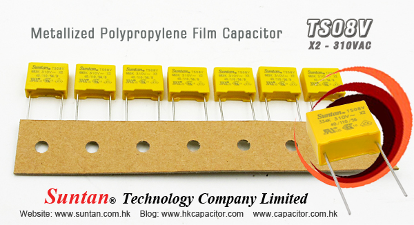 metallized polypropylene film capacitor 310vac metallized polypropylene film capacitor x2 ts08v leads tinned wire rated voltage 310 vac 50 hz to 60 hz capacitance range 0 001 μf to 2 2μf