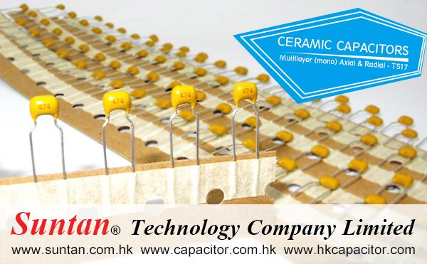 Suntan Provides Ceramic Radial& Axial Capacitor