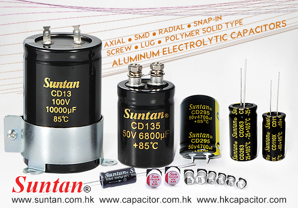 Suntan Radial Lead Aluminum Electrolytic Capacitors